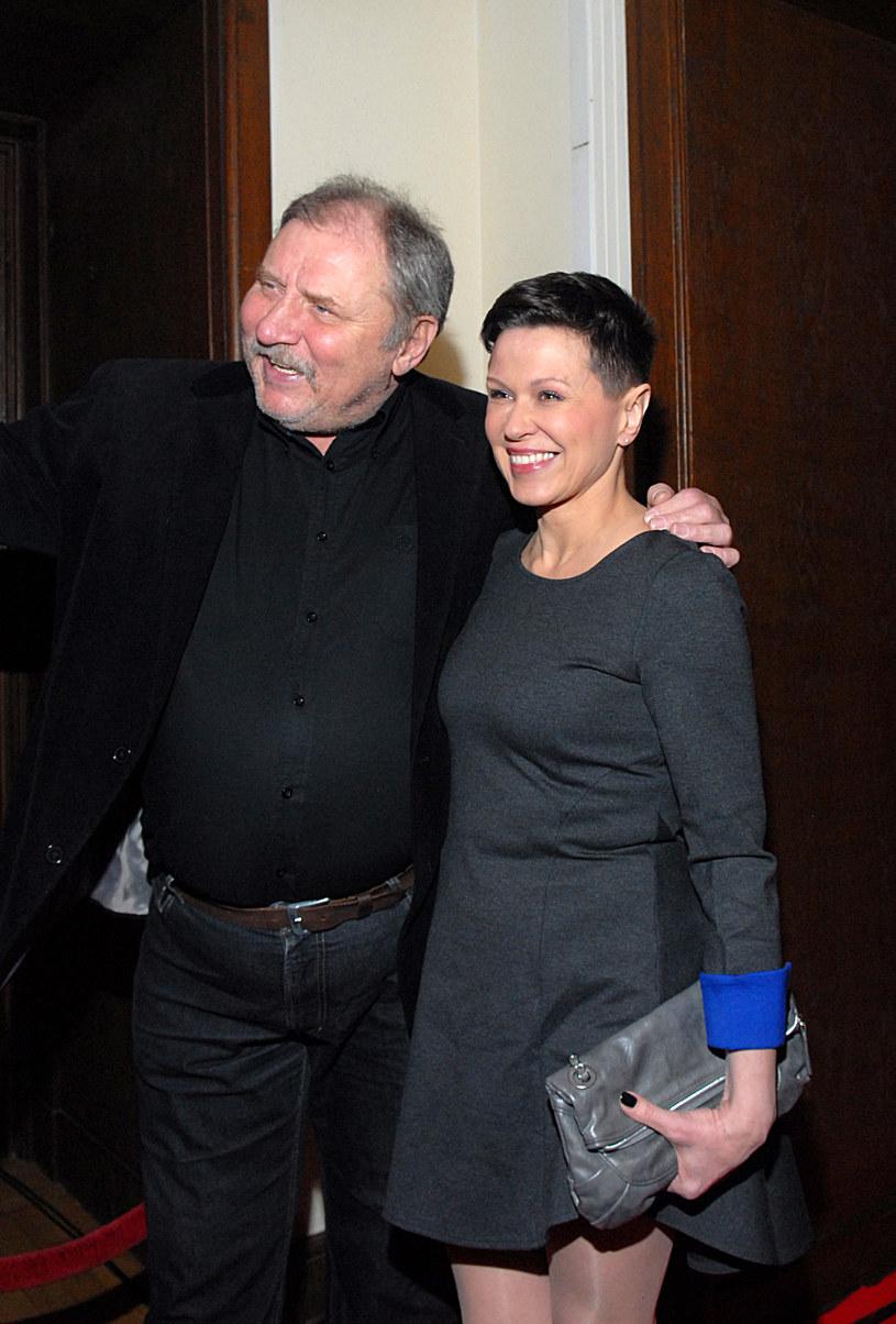 Andrzej Grabowski z drugą żoną, Anitą Kruszewską, 2014 rok /Marek Ulatowski /MWMedia