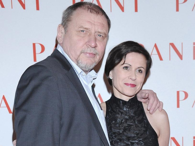 Andrzej Grabowski z żoną Anitą  /Andras Szilagyi /MWMedia