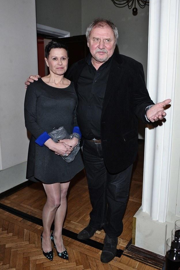 Andrzej Grabowski z żoną /Andras Szilagyi /MWMedia