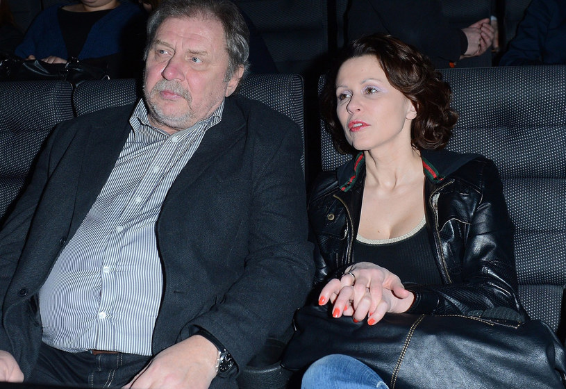 Andrzej Grabowski z żoną /- /East News