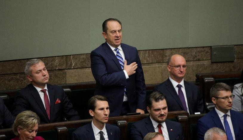 Andrzej Gut-Mostowy (tutaj podczas ślubowania) to najbogatszy poseł /Piotr Molecki /East News