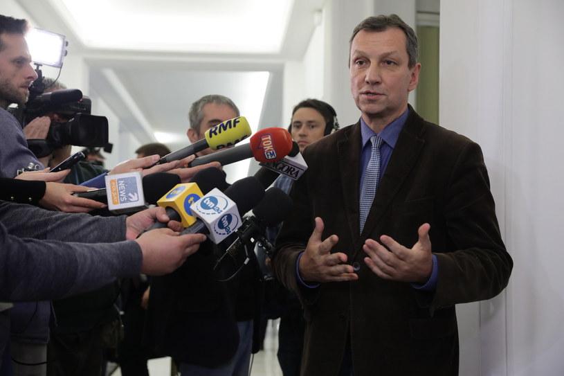 Andrzej Halicki przed spotkaniem opozycji /Tomasz Gzell /PAP