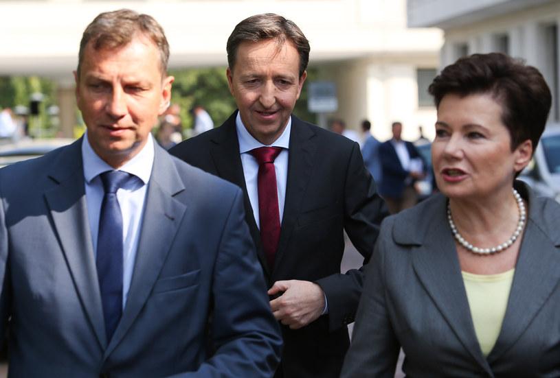 Andrzej Halicki, Witold Palch, Hanna Gronkiewicz-Waltz /MICHAL DYJUK / POLSKA PRESS /East News