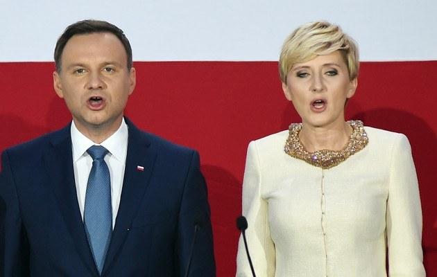 Andrzej i Agata Duda /Chelstowski  /Agencja FORUM