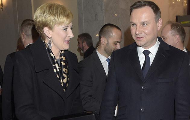 Andrzej i Agata Dudowie /Kurnikowski /AKPA