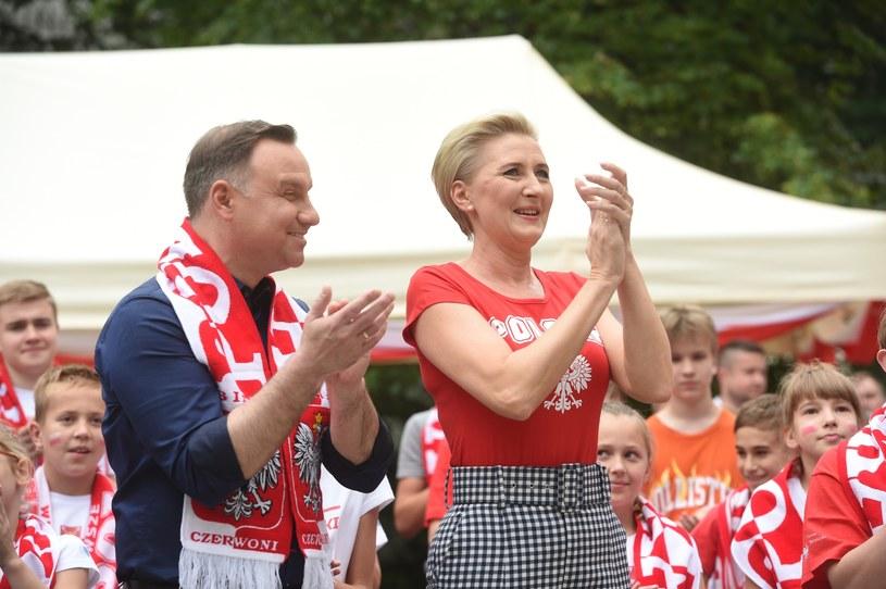 Andrzej i Agata Dudowie /Jacek Dominski/ /Reporter
