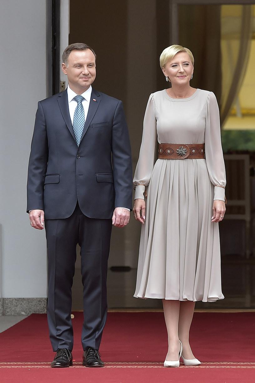 Andrzej i Agata Dudowie /Niemiec /AKPA