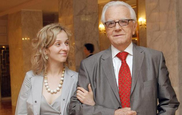 Andrzej Łapicki i Kamila Mścichowska, fot. Ida Kurkowska  /AKPA