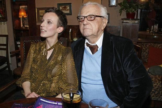 Andrzej Łapicki z Kamilą, fot. Andrzej Engelbrecht  /AKPA