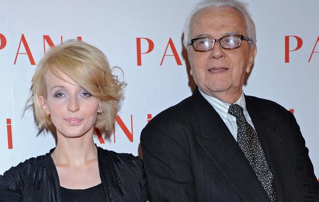 Andrzej Łapicki z żoną Kamilą  /Andras Szilagyi /MWMedia