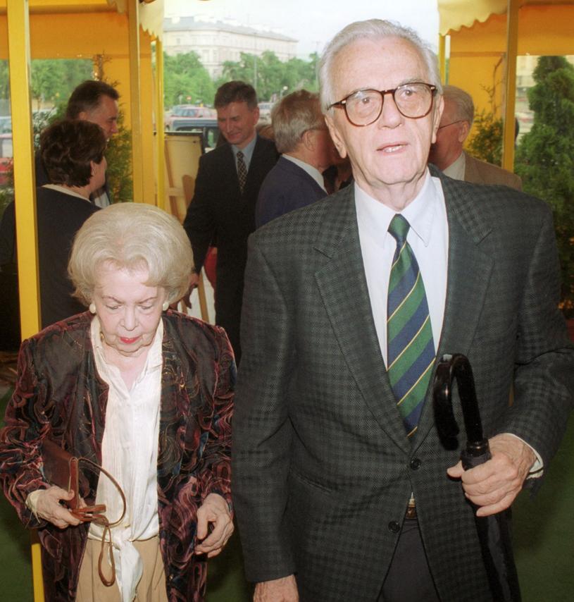 Andrzej Łapicki z żoną Zofią Chrząszczewską /Wojtek Stein /Reporter