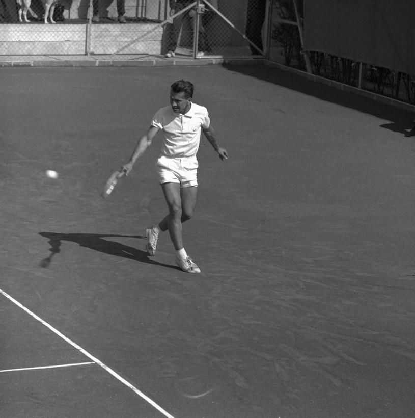 Andrzej Licis podczas meczu Pucharu Davisa ze Szwajcarią /Getty Images /Getty Images
