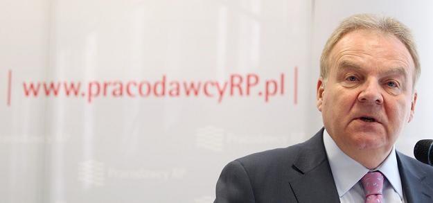 Andrzej Malinowski, prezydent Pracodawców RP. Fot. Jacek Waszkiewicz /Reporter