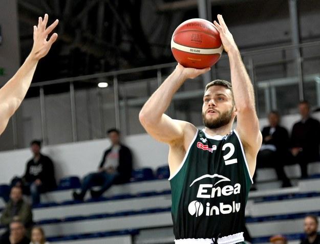Andrzej Mazurczak z Enea Zastalu BC Zielonej Góry /Marcin Bielecki /PAP