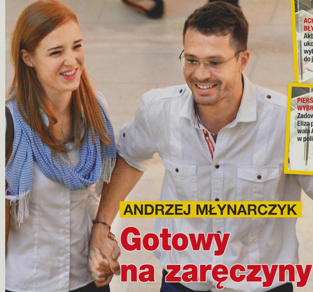 Andrzej Młynarczyk z narzeczoną /Na żywo