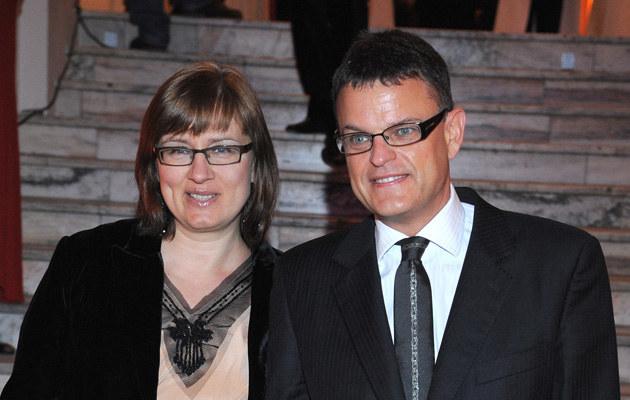 Andrzej Morozowski z żoną  /MWMedia