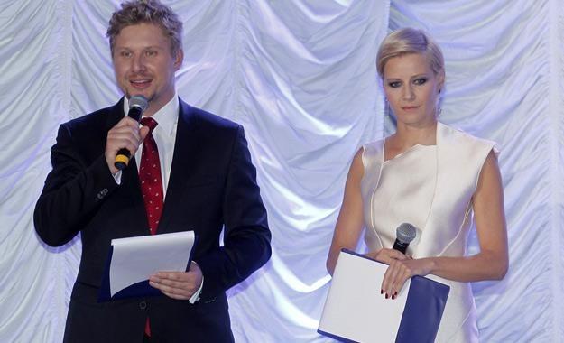 Andrzej Nejman i Małgorzata Kożuchowska prowadzili galę Feliksów Warszawskich /AKPA