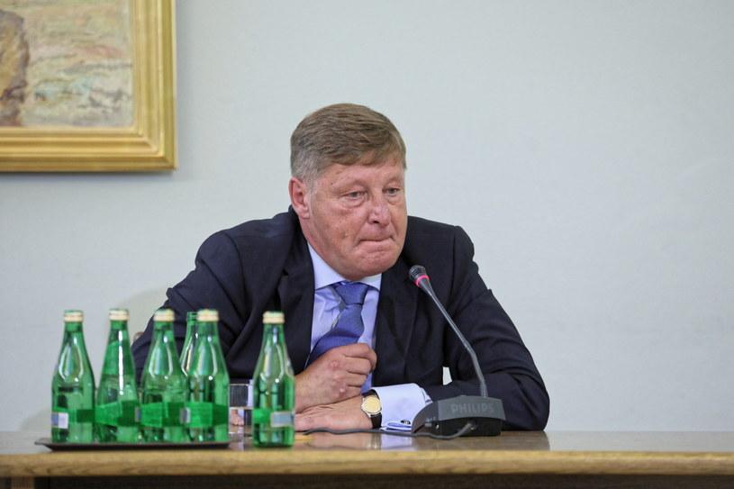Andrzej Parafianowicz zeznaje przed komisją śledczą / Leszek Szymański    /PAP