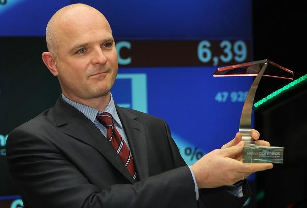 Andrzej Plak, prezes IBC Polska F&P SA, podczas debiutu na NewConnect /PAP