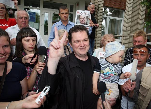 Andrzej Poczobut już na wolności /PAP/EPA