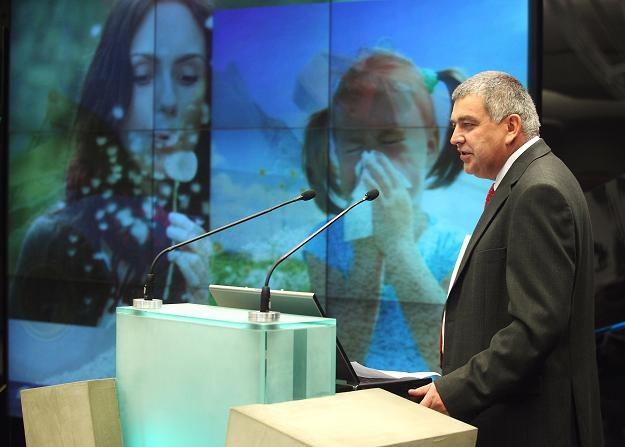 Andrzej Polkowski, prezes Telesto, podczas debiutu na NewConnect /PAP