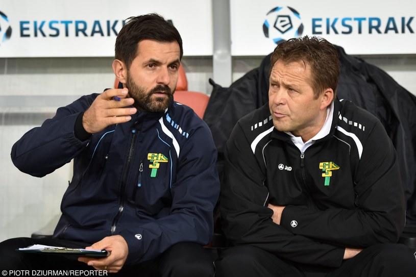Andrzej Rybarski i Jurij Szatałow zastanawiają się kogo jeszcze sprowadzić do Górnika /P. Dziurman /East News