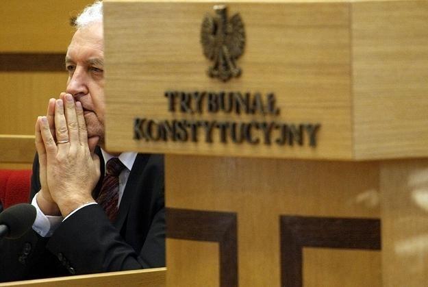 Andrzej Rzepliński, prezes Trybunału Konstytucyjnego. Fot Adam Guz /Reporter