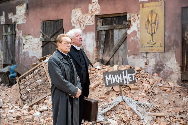 """Andrzej Seweryn i Michael Rastl na planie filmu """"Zieja"""" /Wojciech Pacewicz /PAP"""