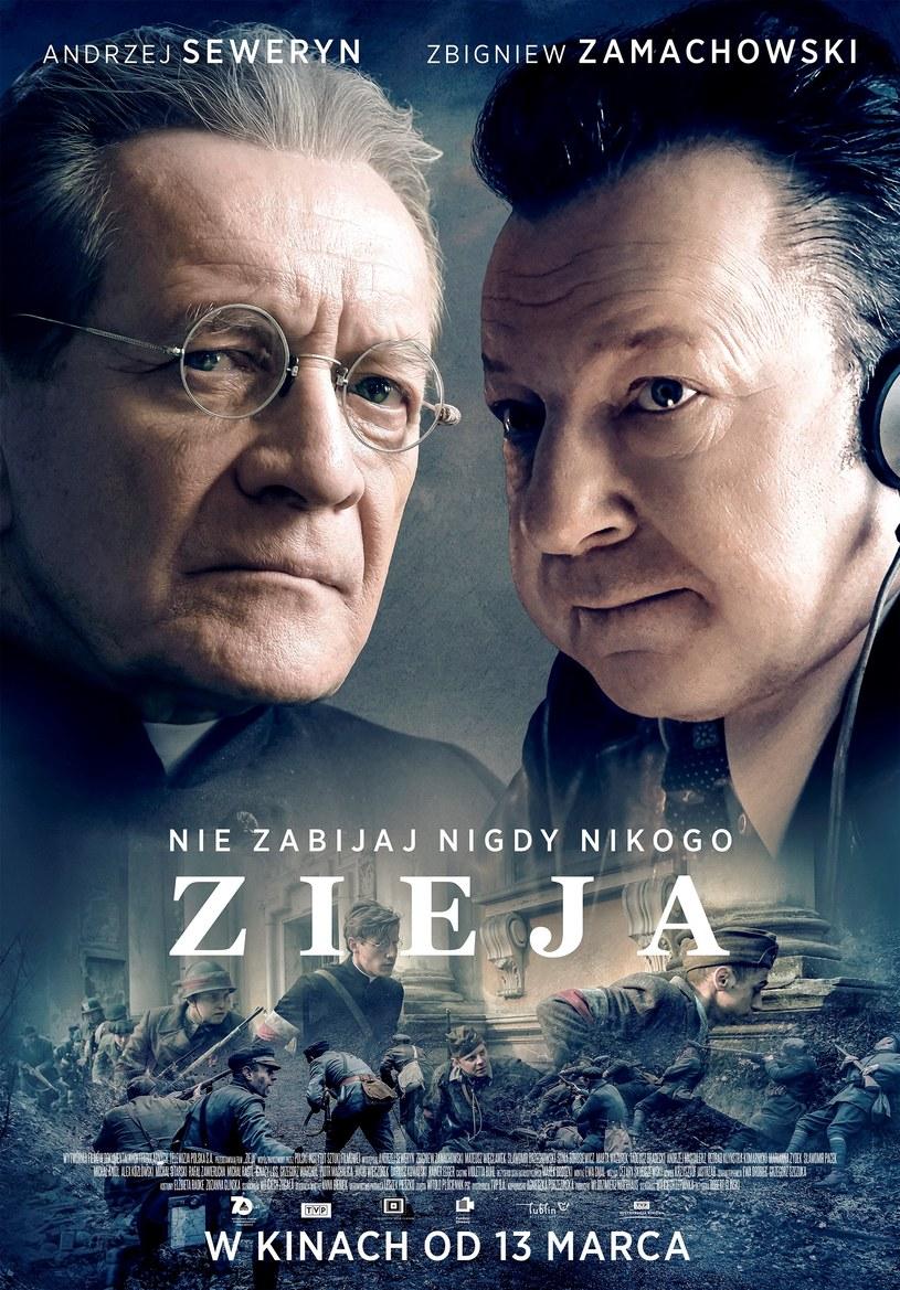 """Andrzej Seweryn i Zbigniew Zamachowski na plakacie filmu """"Zieja"""" /materiały dystrybutora"""