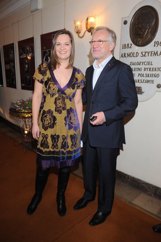 Andrzej Seweryn z córką Marią /- /East News
