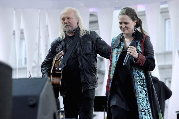 Andrzej Sikorowski z córką, Mają /AKPA