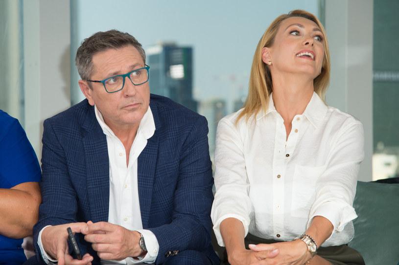 """Andrzej Sołtysik i Anna Kalczyńska w """"Dzień dobry TVN"""" /Artur Zawadzki /Reporter"""