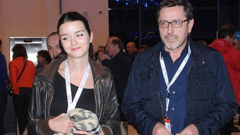 Andrzej Sołtysik z żoną /Andras Szilagyi /MWMedia