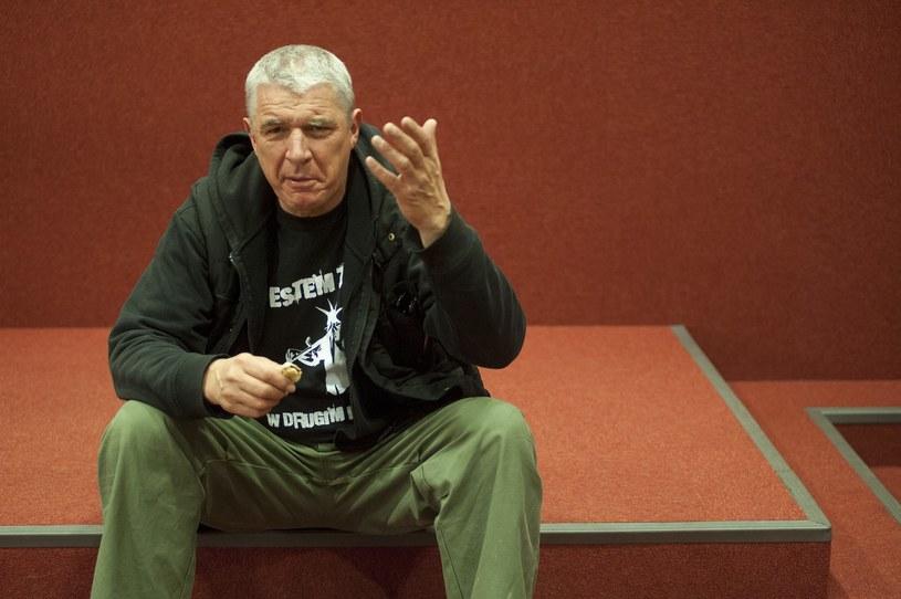 Andrzej Stasiuk szykuje się do trasy z grupą Haydamaky /Fot. Wojciech Strozyk /Reporter