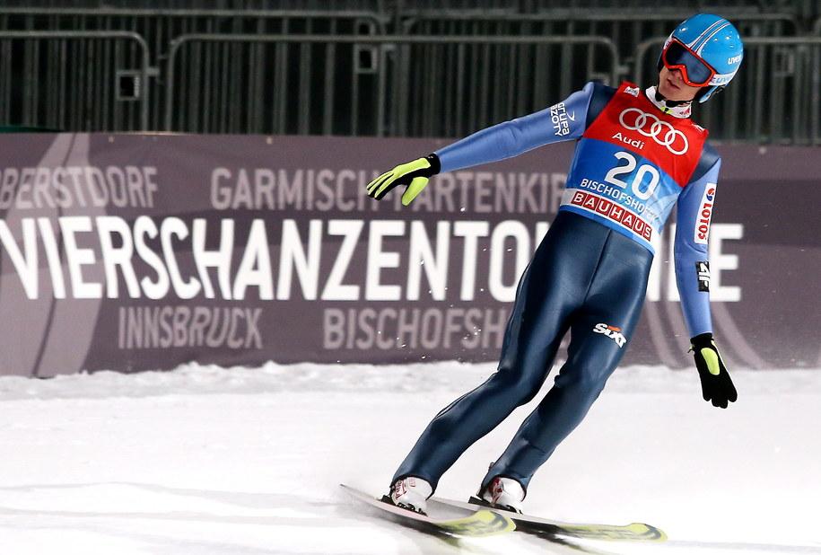 Andrzej Stękała podczas kwalifikacji przed ostatnim konkursem Turnieju Czterech Skoczni w Bischofshofen /Grzegorz Momot /PAP