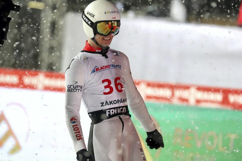 Andrzej Stękała został zdyskwalifikowany z powodu zbyt długich nart / Grzegorz Momot    /PAP