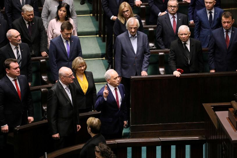 Andrzej Szlachta i Jacek Kurzępa składają ślubowanie / Jakub Kamiński    /East News