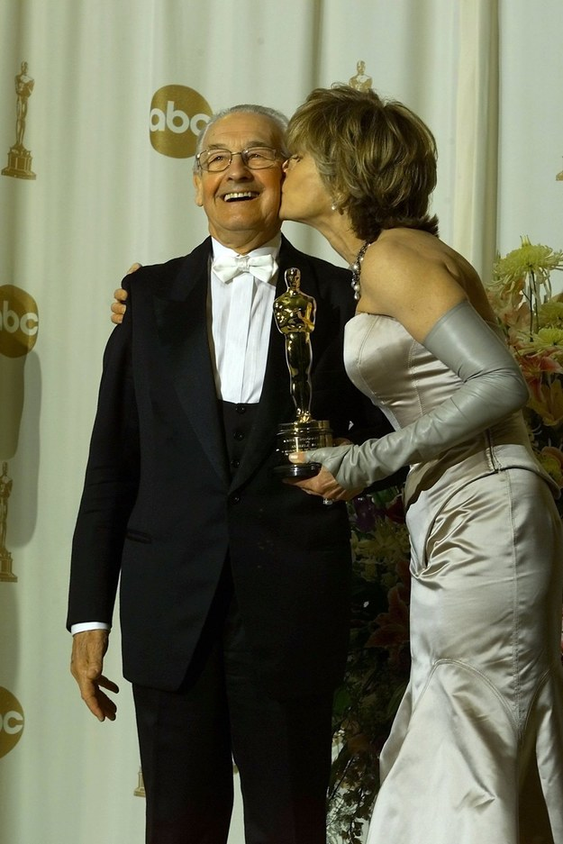 Andrzej Wajda i Jane Fonda /BRUCE C. STRONG /PAP/EPA