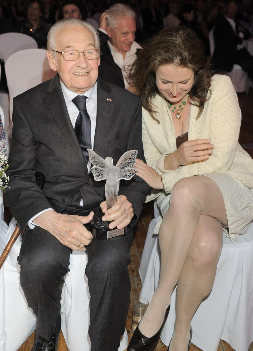 Andrzej Wajda i Karolina Wajda /Tricolors /East News