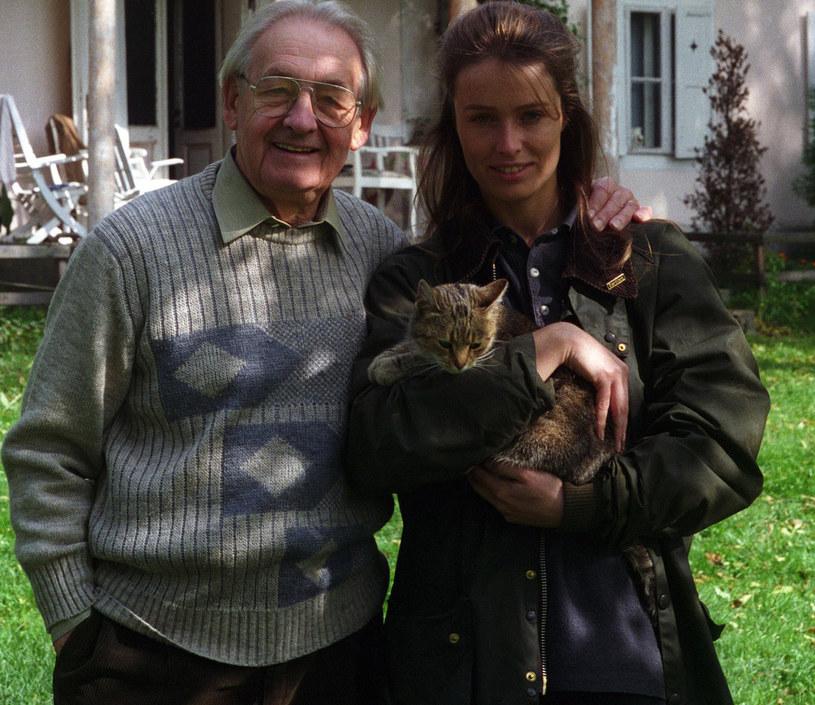 Andrzej Wajda z córką Karoliną /Czesław Czapliński/FOTONOVA /East News
