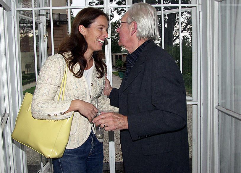 Andrzej Wajda ze swoją córką Karoliną w 2003 roku /Niemiec /AKPA