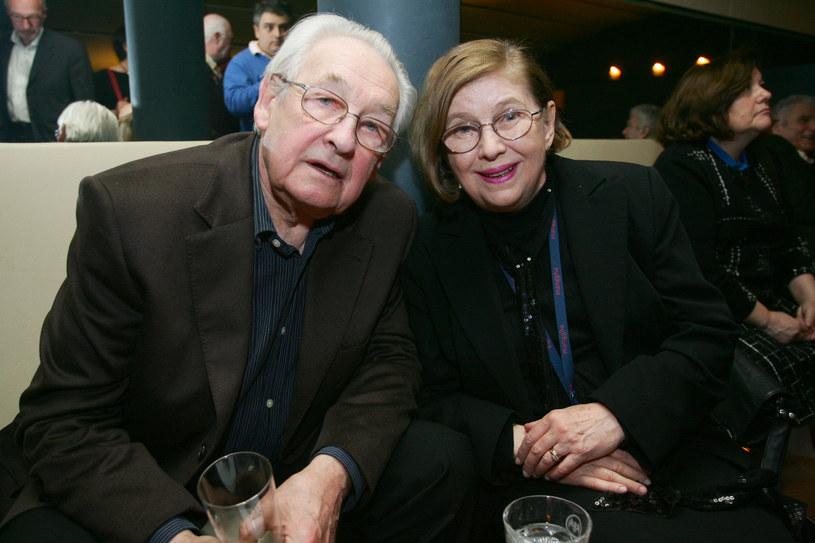 Andrzej Wajda ze swoją czwartą żoną Krystyną Zachwatowicz /Palicki /AKPA