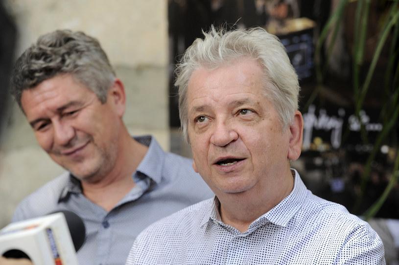 """Andrzej Zieliński i Juliusz Machulski na planie filmu """"Volta"""" /AKPA"""