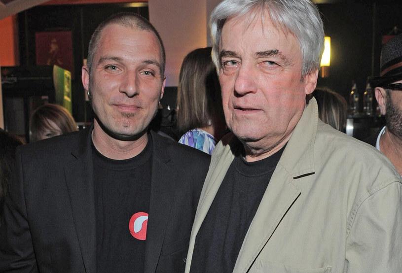 Andrzej Żuławski, na zdj. z synem Xawerym /Tricolors /East News