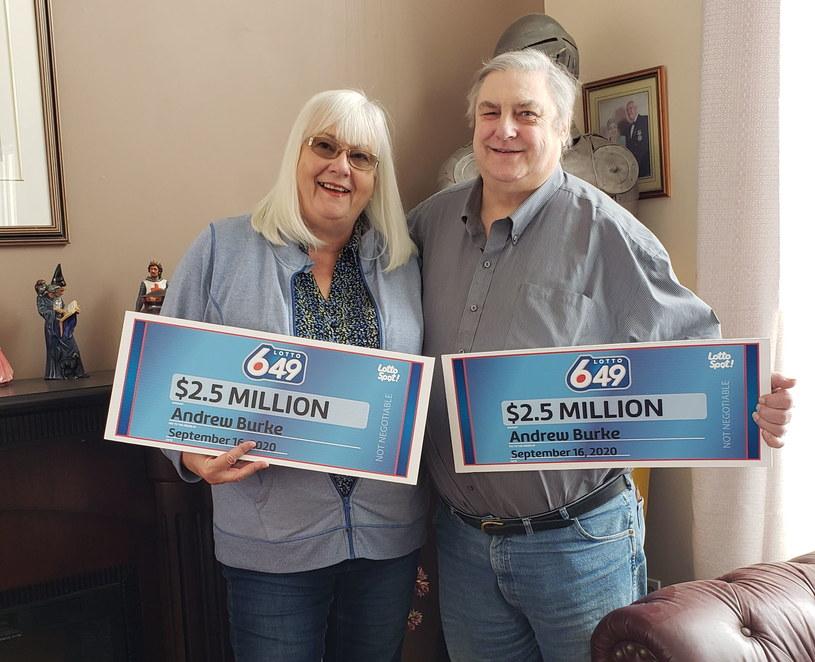 Andy Burke z żoną. Zdjęcia dzięki uprzejmości Western Canada Lottery Corp /materiały prasowe