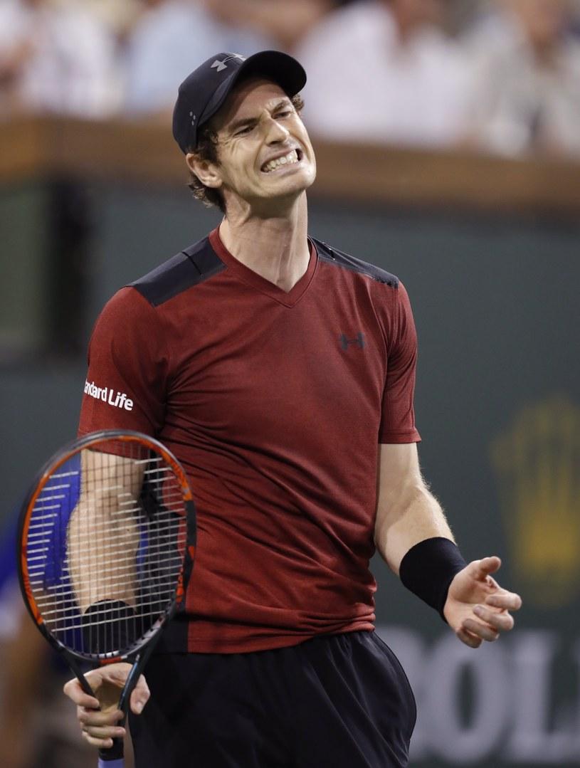 Andy Murray odpadł już w drugiej rundzie /MIKE NELSON /PAP/EPA