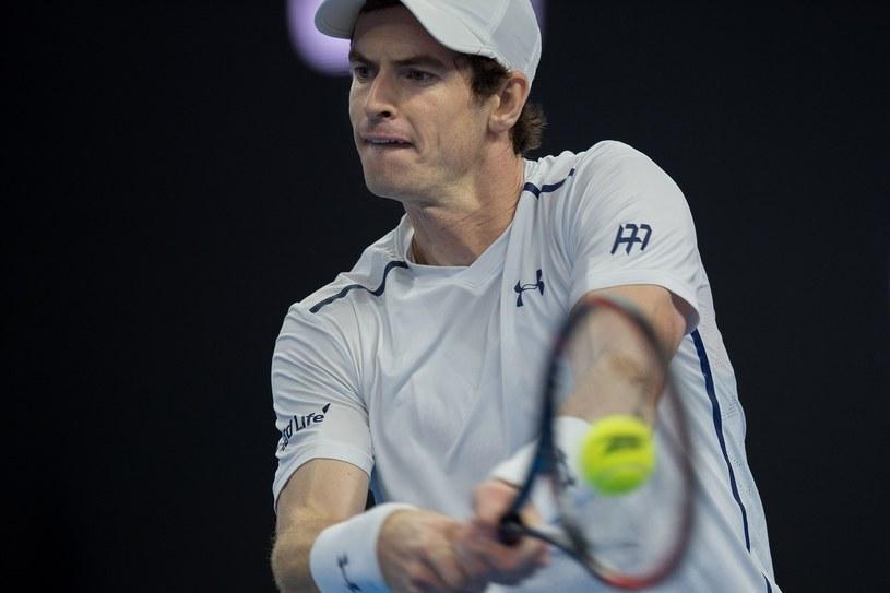 Andy Murray podczas meczu finałowego /AFP