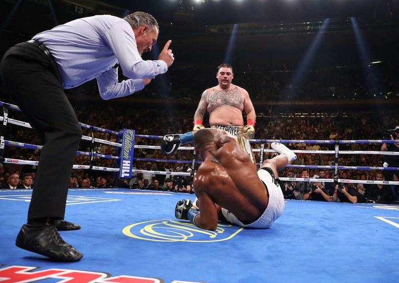 Andy Ruiz Jr podczas walki z Anthonym Joshuą /AFP
