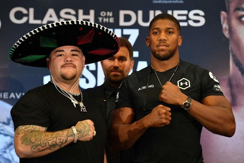 Andy Ruiz Jr (z lewej) i Anthony Joshua /AFP