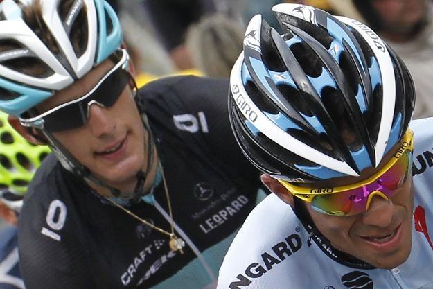 Andy Shleck i Cadel Evans to stoczą walkę o zwycięstwo w Tour de France /AFP